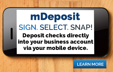 mDeposit for Businesses - Deposit Checks Into Your Business Account via your mobile device.